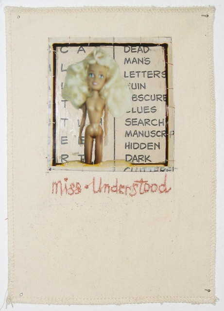 Miss-Understood. Altered polaroid and embroidery on linen. 2004