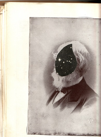 spaceman (collage from old journal/sketchbook)