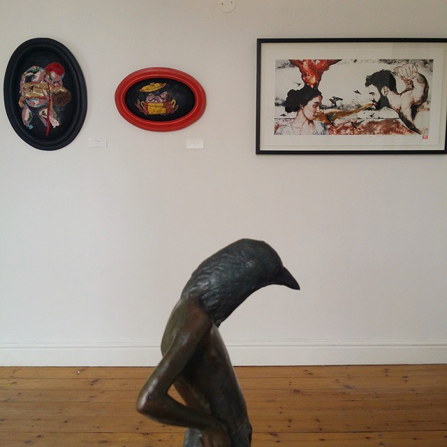 Installation view with works by myself, Elizabeth Balcomb and Christiaan Diedericks. (photo courtesy of Alex Hamilton)