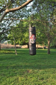 """My work called """"I dare you"""" for the group exhibition PLAY at Nirox sculpture park."""