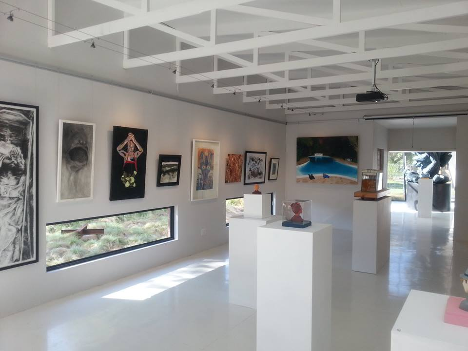 """View of """"Here be dragons"""" exhibition at Gallery On Leviseur (Bloemfontein)"""