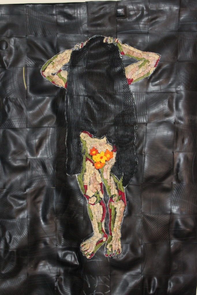 """Kopsku"" 1400 x 980 mm Cotton thread, textile and rubber"