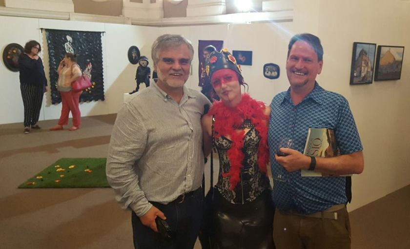 Opening night with fellow artists Jaco Sieberhagen and Gordon Froud