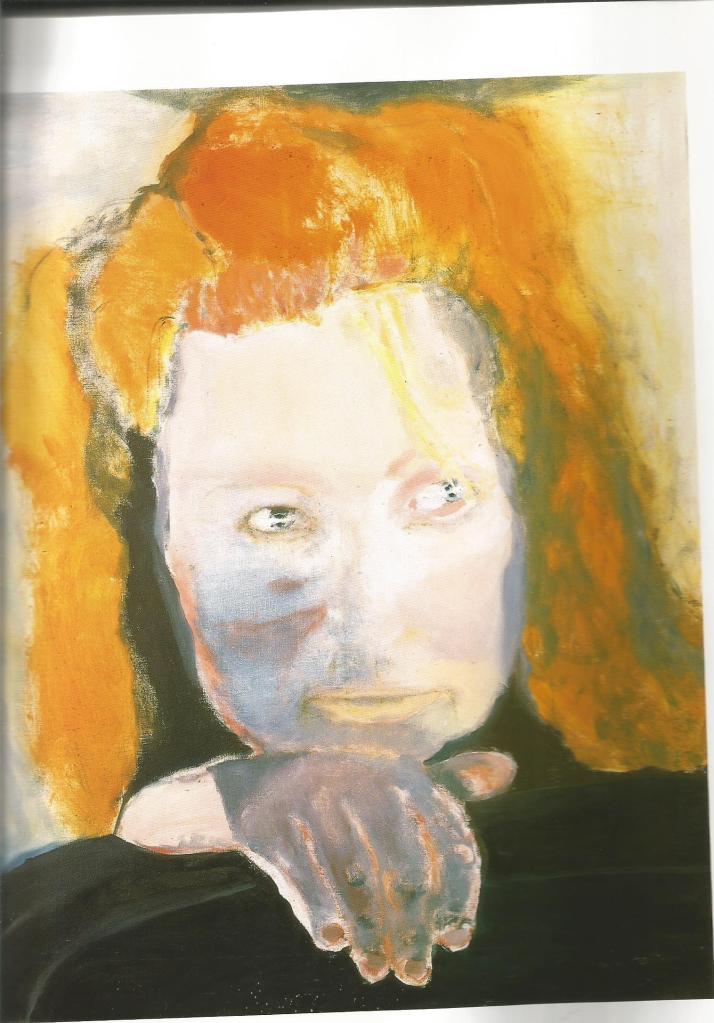 """Het kwaad is banaal"" (Evil is banal) 1984 Oil on Canvas - Marlene Dumas"