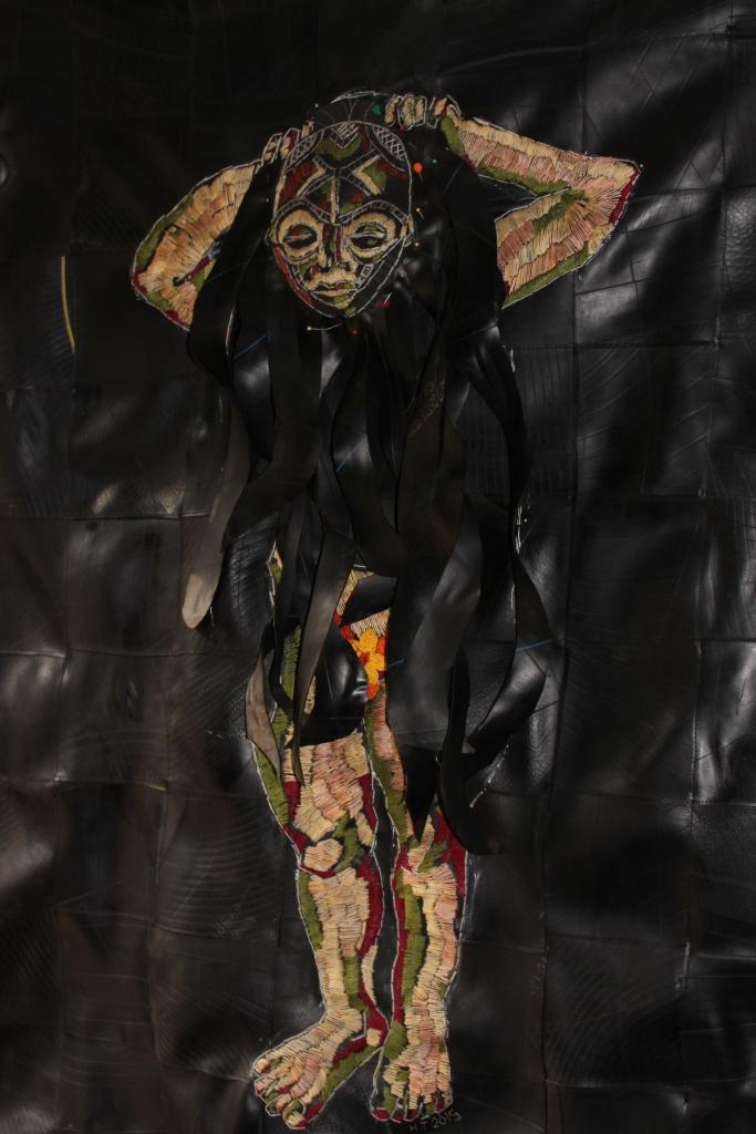 Her dark side/Fetish 2015/6 Cotton thread, batting and rubber 140 x 98 cm