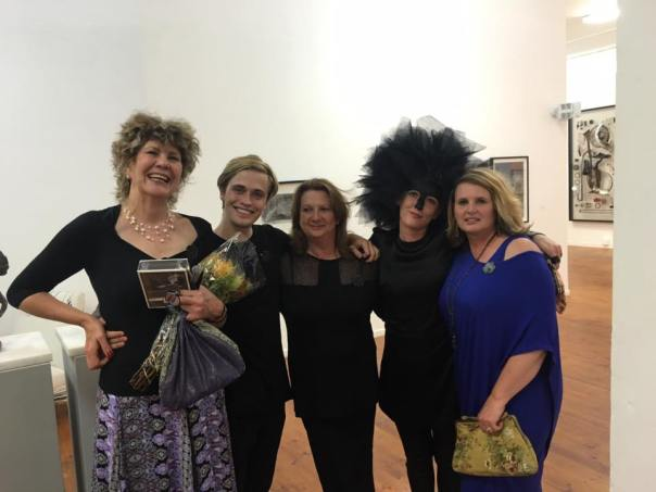 from left to right: Paula Louw (artist), Philip Heijnen (staff member) Mylene Ife (Gallery Manager), Yours truly and Alta Grobler (Staff member)